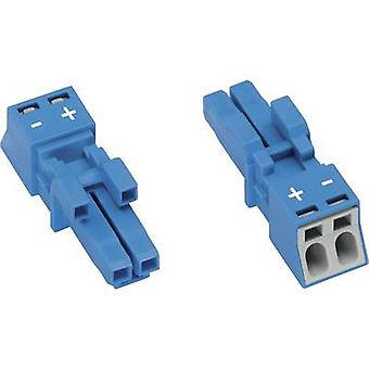 Mains connector WINSTA MINI Series (mains connectors) WINSTA MINI Socket, straight Total number of pins: 2 16 A Blue WAG