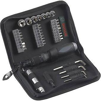 Kit de herramienta de bricolaje Bosch accesorios Promoline 2607019506 con bolsa 38 piezas
