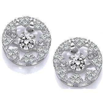 Cavendish French Dancing Star Earrings - Silver