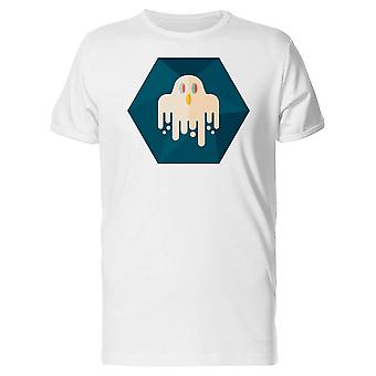 Creepy Ghost In An Hexagon Tee Men's -Image by Shutterstock