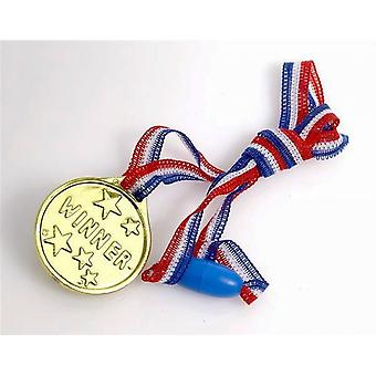 Single 'Winner' Gold Medal for Party Bags & Game Prizes | Kids Party Games
