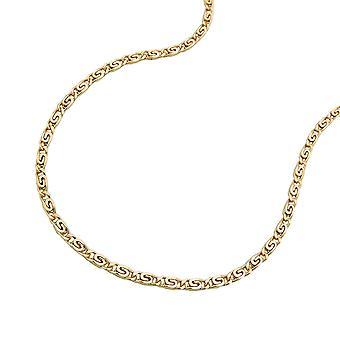 cadenilla de oro para el collar de los niños, el tanque S 36 cm, 14 KT oro 585 corto