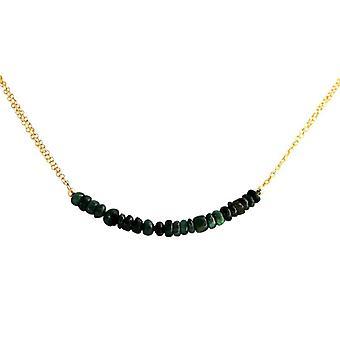 Smaragdkette Smaragde grün Smaragd Halskette vergoldet