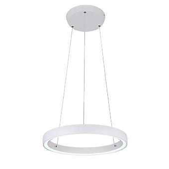 Lámpara colgante de Phineas Matt White Ø45cm 36W difusor de cristal UpDown 10743
