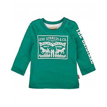 Levi's の子供馬ロゴ長袖 t シャツ