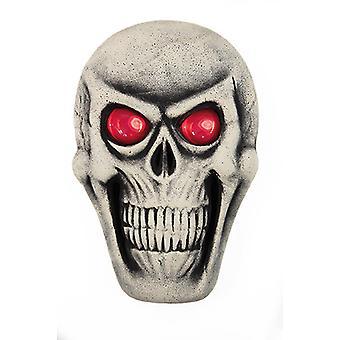 Skull white incl battery decorative mask horror Halloween