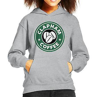 Clapham Coffee Starbucks Kid's Hooded Sweatshirt