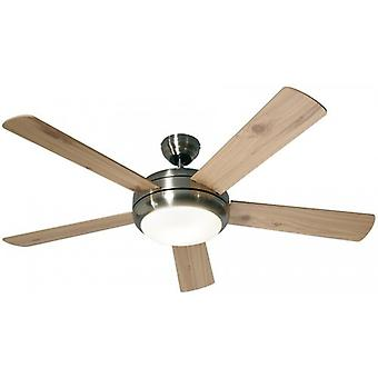 Ceiling Fan TITANIUM brushed chrome with remote control