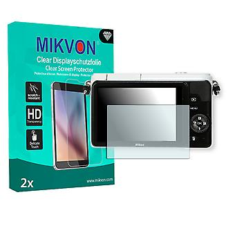 Nikon 1 S1 Screen Protector - Mikvon Clear (Retail Package with accessories)