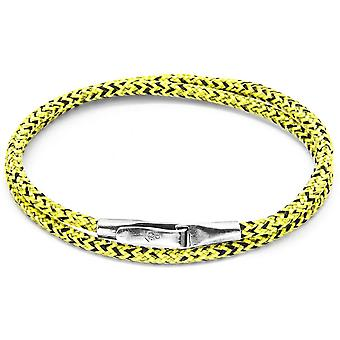 Anchor and Crew Liverpool Silver and Rope Bracelet - Yellow Noir