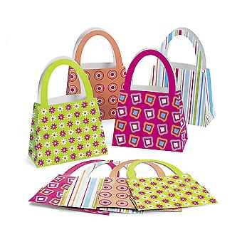12 Bright Purse Party Favour Gift Bags - Kids Parties | Kids Party Loot Bags