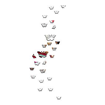 TRIXES Butterfly Silver Mirrored Wall Art Home Decoration  Wall Decal Murals