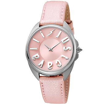 Just Cavalli stylish ladies brand watch leather bracelet silver