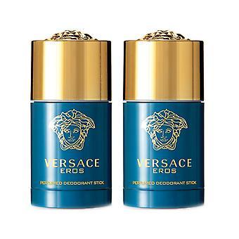 2-pack Versace Eros deodorant stick 75 ml