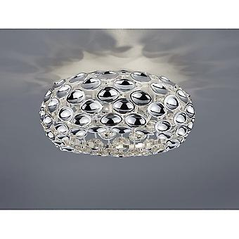 Trio Lighting Spoon Modern Chrome Metal Ceiling Lamp