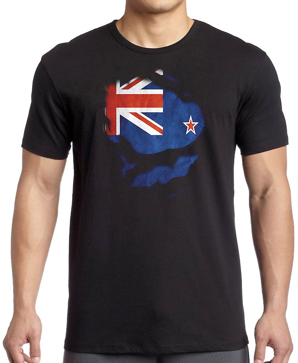 New Zealand Kiwi Ripped Effect Under Shirt T Shirt