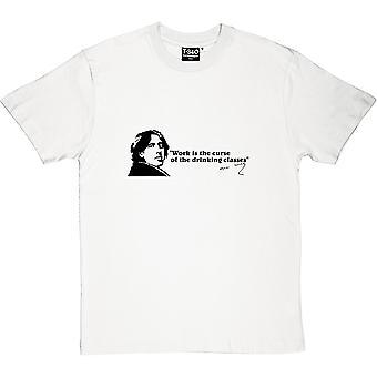 Oscar Wilde tomando clases camiseta citar hombres