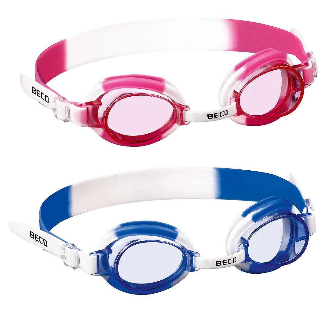 BECO Halifax Junior Childrens Swimming Goggle - Pink Lenses - Pink