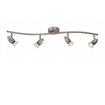 Lucide Caro-LED Modern Metal Satin Chrome Ceiling Spot Light