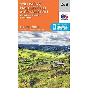 OS Explorer Map (268) Wilmslow, Macclesfield i Congleton