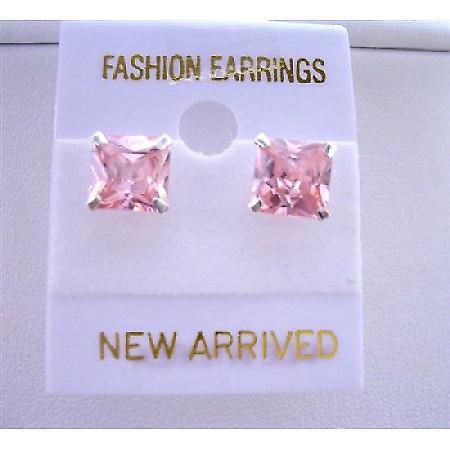 Sterling Silver Post Rosaline Stud Earrings Prince Cut Stud Earrings