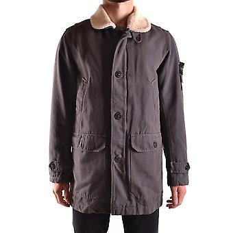 Stone Island Grey Polyester Outerwear Jacket