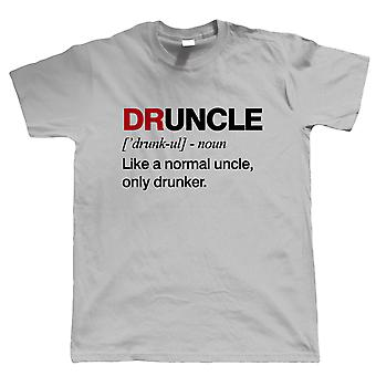 Druncle, Mens T Shirt   Funny Drunk Uncle Definition Novelty Drink Normal Drunker Drinking Beer Party Animal Legend   Birthday Xmas Fathers Day Gift Him Dad Family Brother