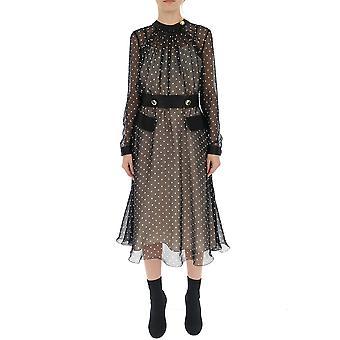 Prada Brown/black Silk Dress