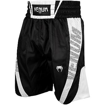 Venum Elite Boxing Shorts - Black/White