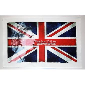 Union Jack porter HM la Reine Elizbaeth II 90e anniversaire Union Jack torchon