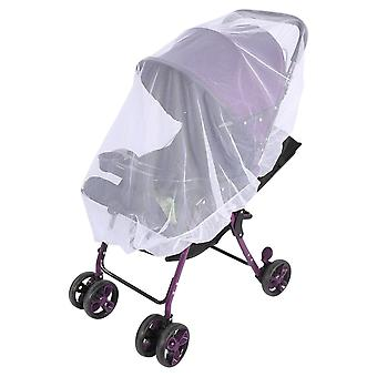 White mosquito net for baby stroller