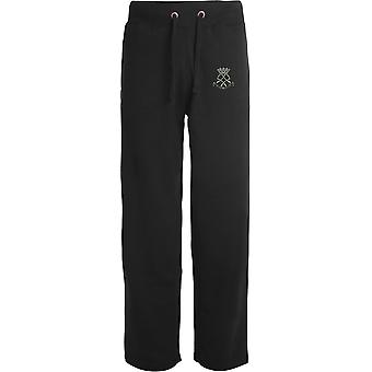 Royal Yeomanry - Licensed British Army Embroidered Open Hem Sweatpants / Jogging Bottoms