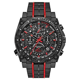 Bulova Precisionist Chronograph Black Red UHF 98B313 Watch