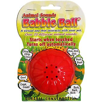 Large Animal Sounds Babble Ball-Red & Yellow ABB1