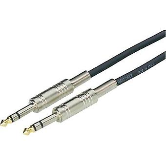 Paccs 6.3 mm Jack Instrument cable Black Jack male/2 x jack male