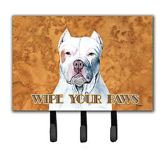 Pit Bull Wipe your Paws Leash or Key Holder