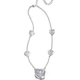 Butler & Wilson sammanflätade Crystal hjärtan halsband