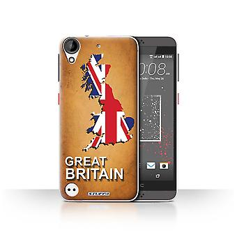 STUFF4 Case/Cover for HTC Desire 630/Great Britain/Flag Nations