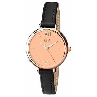 Limit Womens Black Strap Rose Gold Dial 6074 Watch