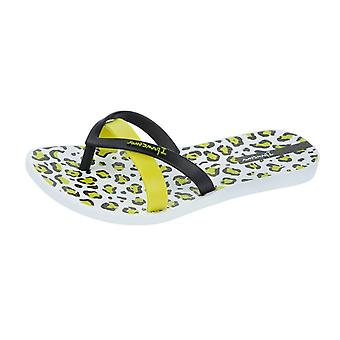 Ipanema Silk Print Womens Flip Flops / Sandals - Black Green