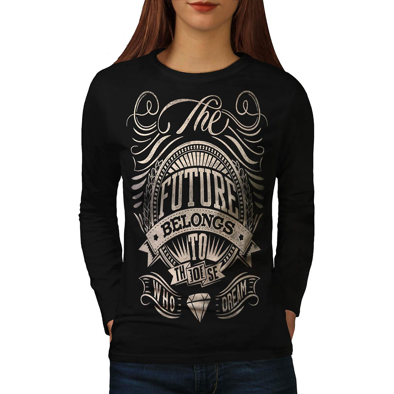 Future For Dream USA About Life Women Black Long Sleeve T-shirt | Wellcoda