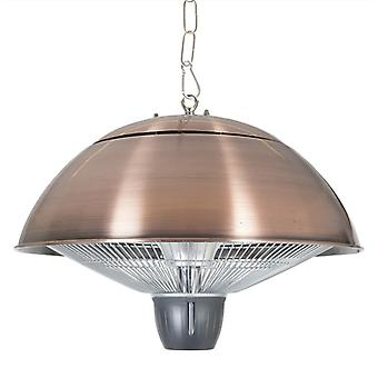 La Hacienda Copper Effect 1500W Hanging Halogen Heater