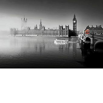Gifts with Style London Fog at Parliment Print