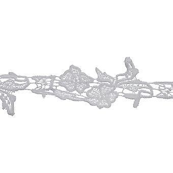 Elegant Floral Spray Venice Lace Trim 2-1/8