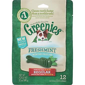 GREENIES regelmatige MINT traktatie Pack 340gm