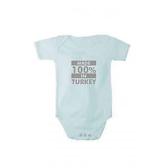Baby body with shiny silver print made in Turkey