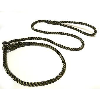KJK rebslageri Slip bly med gummi stoppe Olive 8 mm X 150 cm