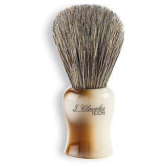 3 Claveles Badger Shaving Brush Marmol Case (Beauty , Men , Shaved off , Brushes)