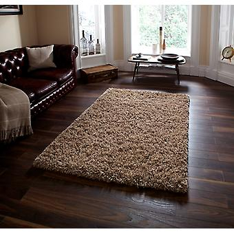 High Quality Thick Soft Touch Beige Shaggy Rug - Athens