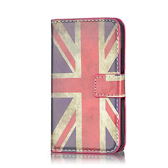 Design Book PU Leather Case Cover for Sony Xperia Z1F Compact - Union Jack UK Flag